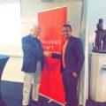 Hassan Mohamed från SIMON Boden tillsammans med Bengt Westerberg moderator  på utbildningen